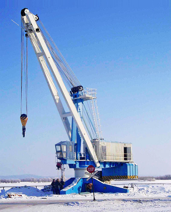 Boom stationary crane